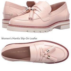 Stuart Weitzman Manila Leather Tassel Loafer